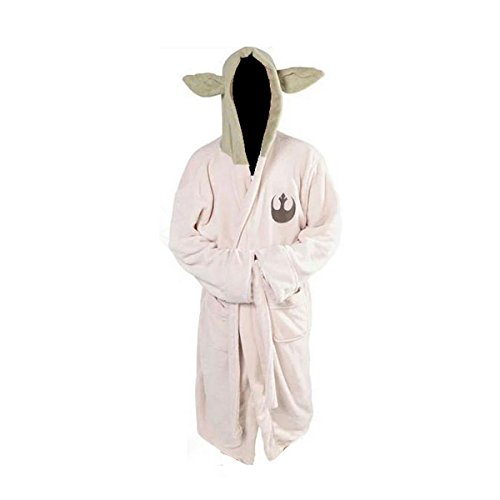 [XCOSER Bathrobe Yoda Costumes Luxury Clothing Coral Velvet White 2016 Size L] (Yoda Costumes For Adults)