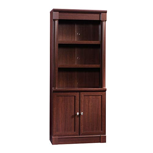 Sauder 412019 Palladia Library with Doors, L 29.37 x W 13.90 x H 71.85 , Select Cherry finish