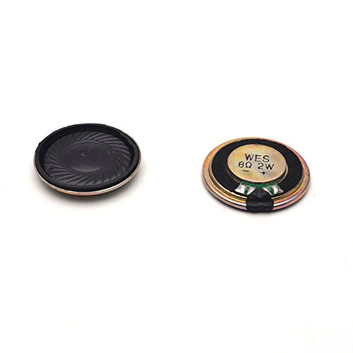 Antrader Micro Internal Speakers 8Ohm 2W Magnet Repair Part Aluminum Shell Round 30mm Dia 6 Pcs