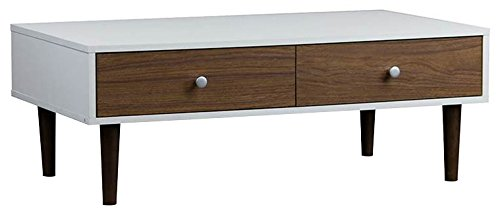 Baxton Studio Gemini Wood Contemporary Coffee Table, - Contemporary Walnut Wood