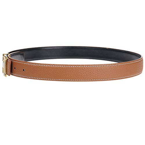 (Women H Reversible Genuine Leather Belt With Removable Buckle - For Hermes 30inch)