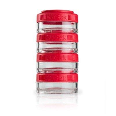 Blender Bottle GOSTAK 40CC 4 PACK Red Color Durable