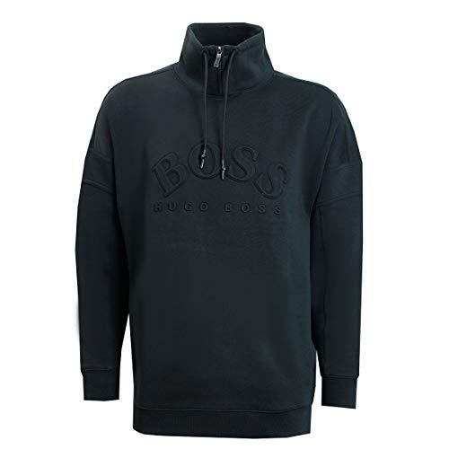 Hugo Boss Sweatshirt with Curved Logo Salboa 50410352 001 Black (XXX-Large)