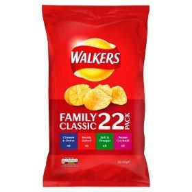 Walkers Crisps Variety Pack 22 Bags