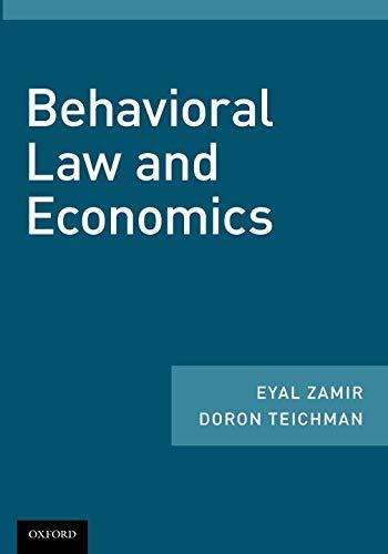 Behavioral Law and Economics (Eyal Press)