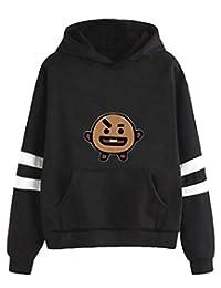 Silver Basic Kpop Harajuku Long-Sleeved Casual Loose Hoodie BTS Fans Supportive Sweatshirt Hoodie