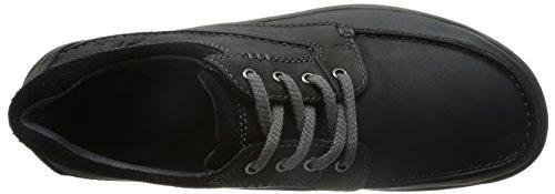 Clarks Casual Hombre Randle Walk Piel Zapatos De Negro