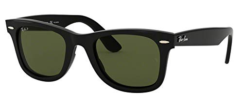 Ray-Ban RB4340 WAYFARER 601/58 50M Black/Green Polarized Sunglasses For Men For Women (58 Rayban)