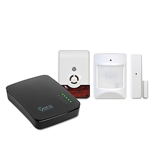 Vera Control Smart Home Security Bundle Saver with Controller, Sensors, Siren Strobe- 4 Devices