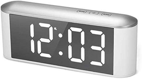 SEESEE.U Réveil numérique à LED avec miroir et câble USB