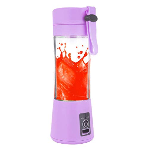 Price comparison product image Jeeke Portable Blender USB Rechargeable Handheld Blender Juice Cup for Shakes and Fruit Juice (Purple, 22x7.8x7.8cm/8.7''x3.1''x3.1'')