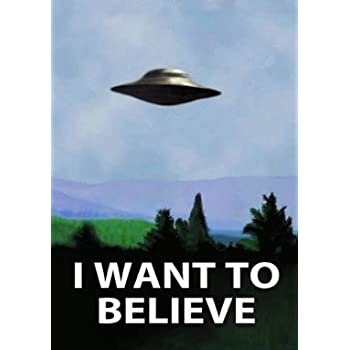 amazoncom xfiles poster i want to believe official