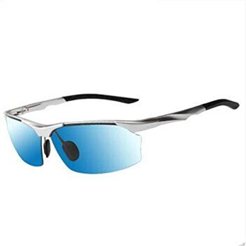 anti aluminio conductores gafas y Silver sol Gafas L sol de KOMNY polarizadas de gafas hombres deslumbramiento aire nocturna el de visión libre de gafas sol hombres los conducir Chip Blue magnesio pesca al Framed gUa0wZxq