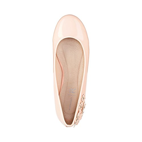 La Redoute Mademoiselle R Frau Ballerinas in Lackoptik mit Blumenapplikation Gre 36 Weitere