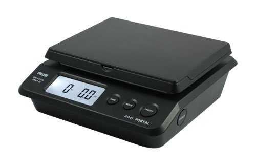 American Weigh Scales AWS-PS-25 Digital Shipping Postal Scale, Black 55 x 0.01 lb]()