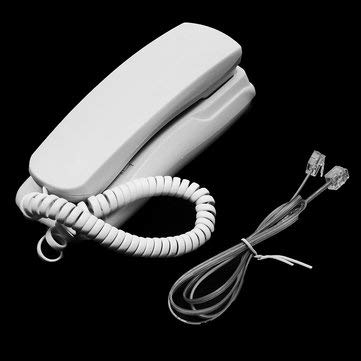 Office & School Supplies Office Equipment - 1Pcs 48V Standard Phone Corded Telephone Analog Desk Wall Mount Flash Redial For Office Home - white