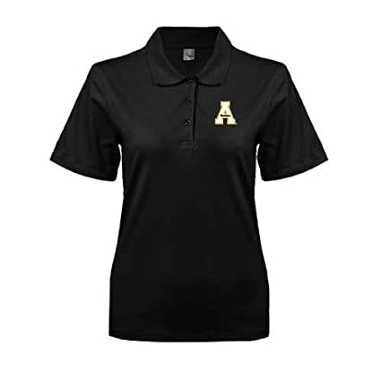 CollegeFanGear Appalachian State Black Easycare Pique Polo App State A