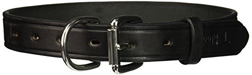 Perri's Leather Dog Collar, Black, Large/16-20-Inch