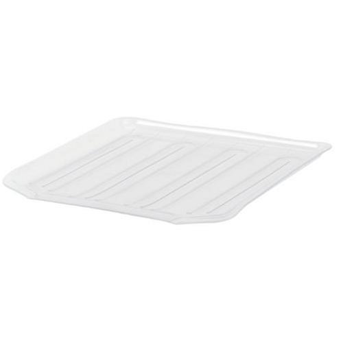 Rubbermaid Antimicrobial Small Dish - Rubbermaid Antimicrobial Drain Board Large, Clear (2-Pack)