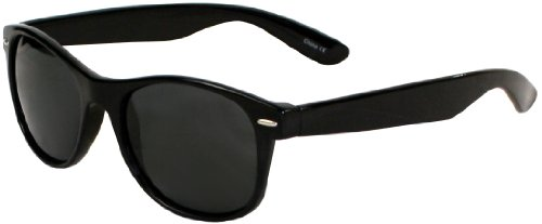 Polarized Its All Good Apollo Sunglasses (Shiny Black Smoke Lens)