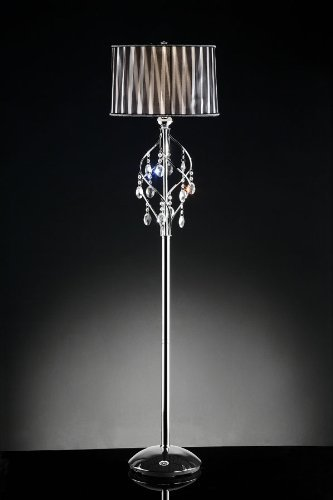 Contemporary DeCOR' 63''H Lady Crystal Floor Lamp Collection by High performance parts