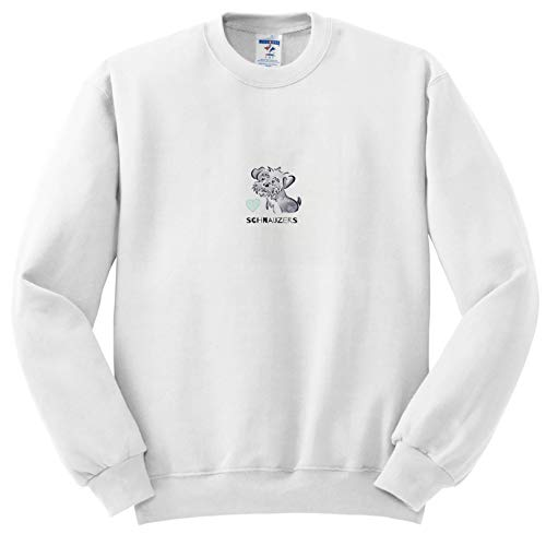 (Art by Mandy Joy - Illustrations, Watercolor - A Cute Cartoon of a Schnauzer Puppy with Typography. - Sweatshirts - Youth Sweatshirt Med(10-12) (ss_294410_11))