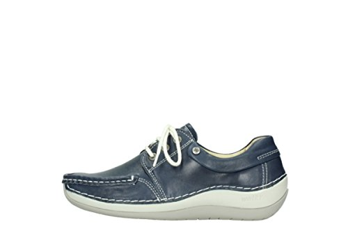 Leather Blue Lace Comfort Azura up Summer 70870 Wolky shoes v18w6xpxq