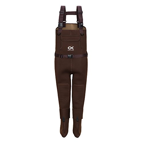 DUCK & FISH Duck and Fish Brown Neoprene Hunting Fishing Stocking Foot Chest Wader (Small)
