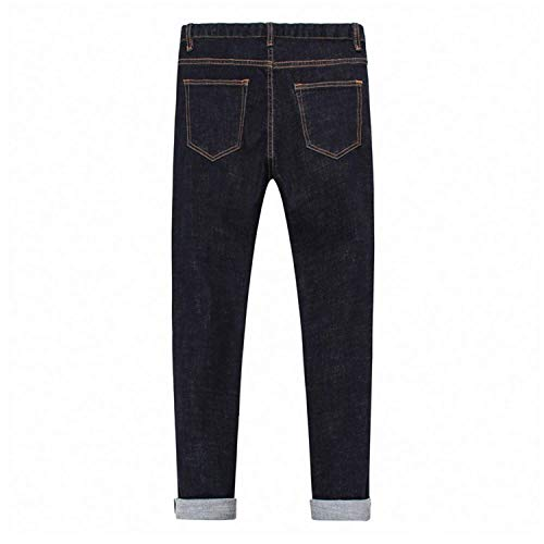 Base Vita Alta Casual Pantaloni Slim Jeans Fit Uomo Nero Fashion A Pants Straight Denim Giovane Da Saoye Di UZOqAn77