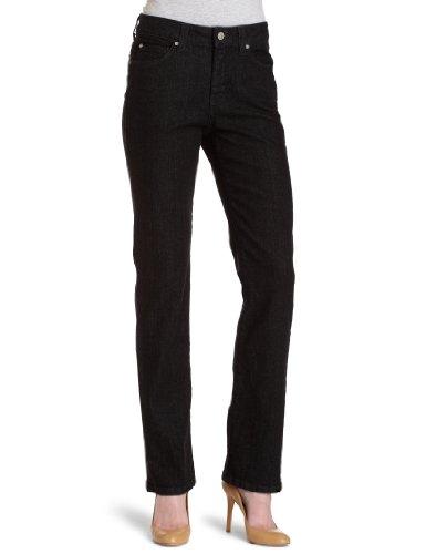 Miraclebody  Womens Straight Leg Jeans, Ebony, 2