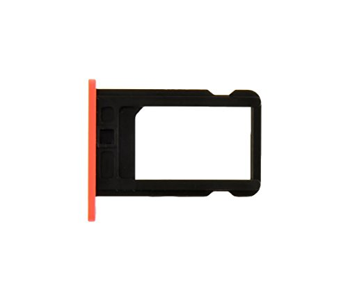 New iPhone 5C Sim Card Tray Holder Replacement Part with Pin Opener (Pink) - FIXSTOP®