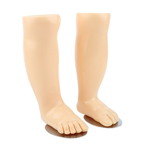 Baoblaze 4.5'' Pair Baby Children Kid Foot Model Foot Mannequin with Magnets and Metal Plates by Baoblaze