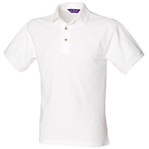 Henbury Ultimative Heavy Pique Polo Shirt H410weiß 3X L