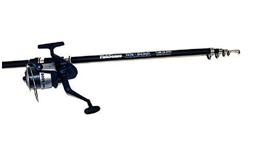 Beach Fishing Set. 12 ft Telescopic Beachcaster Rod And 60 Size Reel Combo Fishsense