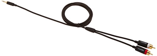 AmazonBasics 35mm To 2 Male RCA Adapter Cable 4 Feet