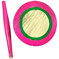 Royals Kids Baby Miniature Handmade Wooden Chakla Belan Set ( Colorful) with Rolling Pin and Board for Kids