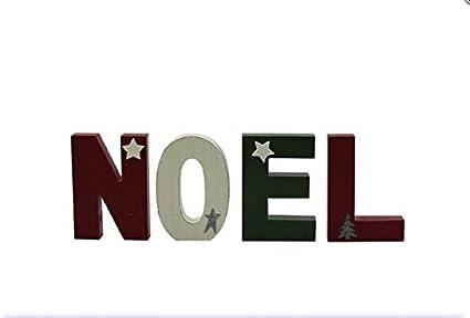 Noel Wooden Letter Blocks Decorative Blocks Christmas Decoration For Mantel Piece