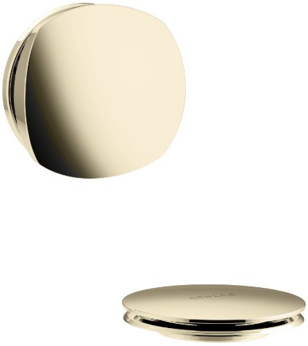 KOHLER K-T37391-AF PureFlo Cable Bath Drain Trim with Basic Rotary Turn Handle, Vibrant French Gold