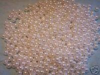 1000+ Loose Arts and Crafts Pearls 6mm Beads White (Pearl Beads Bulk)