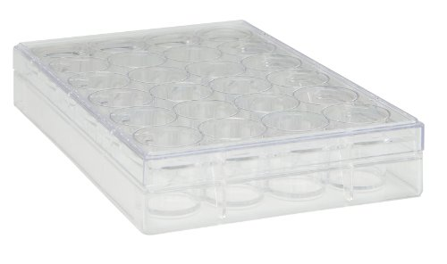 Plates Cell Culture (TrueLine Clear Polystyrene Sterile 24 Well Cell Culture Plate (Case of 50))