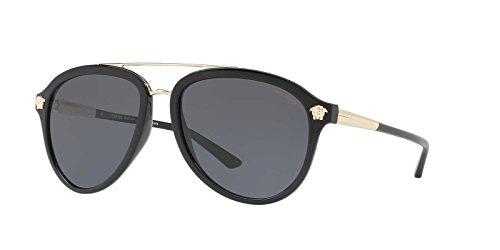 Versace Mens Sunglasses Black/Grey Plastic,Nylon - Polarized - - Sunglasses Polarized Versace Mens