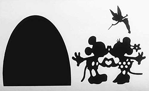 Black, Castle, Mickey, Minnie, Mouse, Christmas, Hole in Wall, TinkerBell, Disney, Kids, Baby, Living Room, Kitchen, Girls, Teens, Moms, Dads, Boys, Walls, Home, Decorations, Vinyl Sticker, Sticker