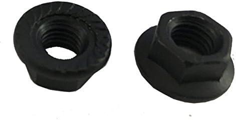 15 M10-1.50 Hexagon Flange Nut with Serrations Class 8 Black Oxide DIN 6923