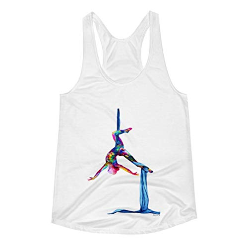 LaureBPaintings, Tank top. Artsy Yoga/Silks Activewear Watercolor Small, The Silk Lady