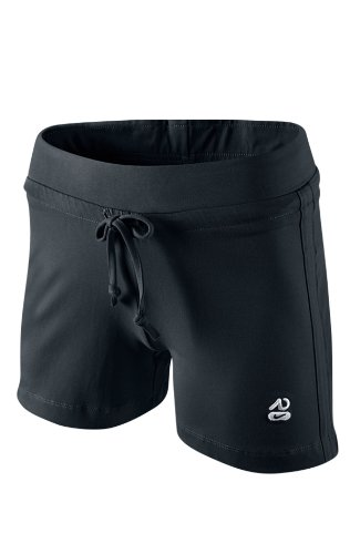 NIKE para mujer pantalones cortos para Aa Jersey, otoño/invierno, mujer, color Negro - blanco/negro, tamaño L Negro - blanco/negro