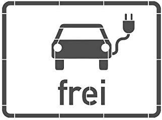 Elektrisch betriebene Fahrzeuge frei Bodenmarkierungs-Schablone mit Rahmen