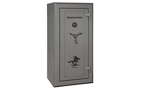 Winchester Treasury 26 Gun Safe- Gunmetal with Dial Lock