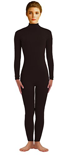 VSVO Adult Black Long-Sleeve Unitard (Medium, Black) (Dance Revolution Dance Costumes)