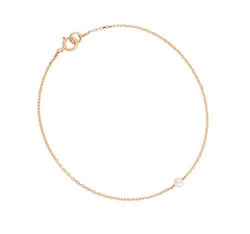 Laura Lee Jewellery femme  9carats (375/1000)  Or jaune #Gold Rond  Perle d'eau douce chinoise Blanc Perle FINENECKLACEBRACELETANKLET