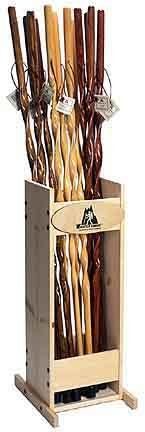 """Whistle Creek 55"""" Douglas Fir Discover Hiking Staff - Cherry Stain with Twist"""